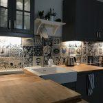 Industrielle Indigo Küche