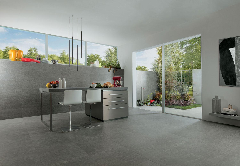 Küchenfliesen Mittelgrau | Fliesen Mittelgrau für Küche | Novoceram