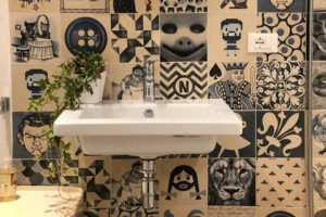 Badezimmer Indigo
